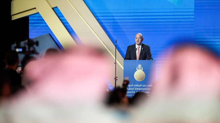 Gianni Infantino has revealed FIFA are considering a plan to expand the 2022 World Cup in Qatar to 48 teams.