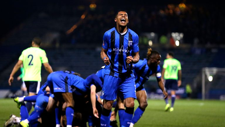 Gillingham knocked Cardiff out in the third round
