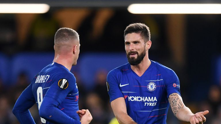 during the UEFA Europa League Group L match between Chelsea and PAOK at Stamford Bridge on November 29, 2018 in London, United Kingdom.