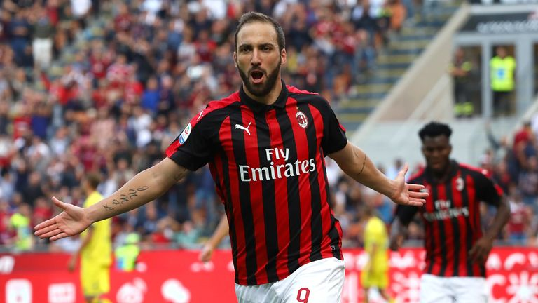 Gonzalo Higuain spent the first half of the season at AC Milan