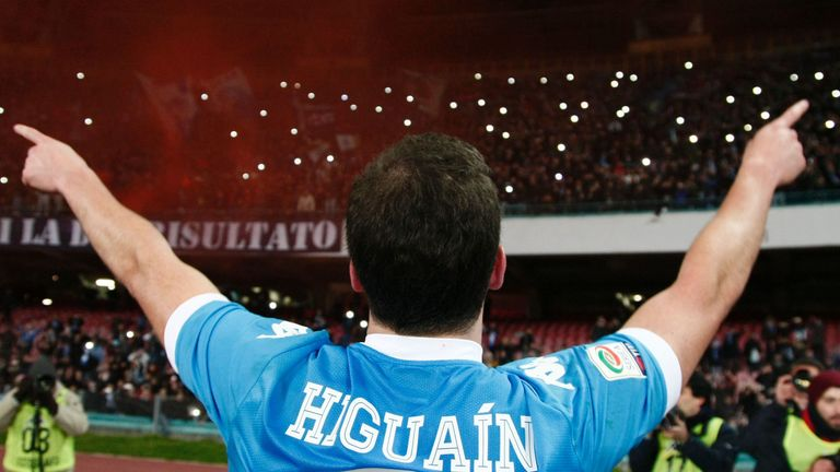 Higuain's best-ever goalscoring capmaign came in his third and final season under Sarri at Napoli