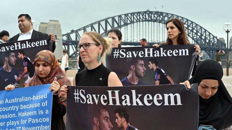 People in Australia campaign for the release of Al-Araibi