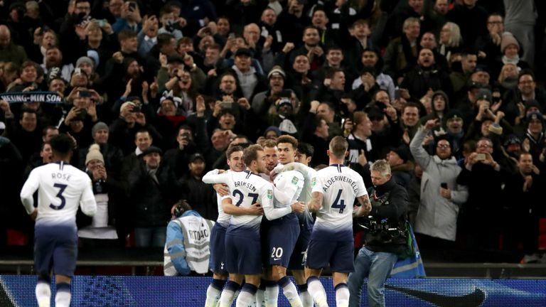 Tottenham face Chelsea in the Carabao Cup semi-final second leg on Thursday, live on Sky Sports