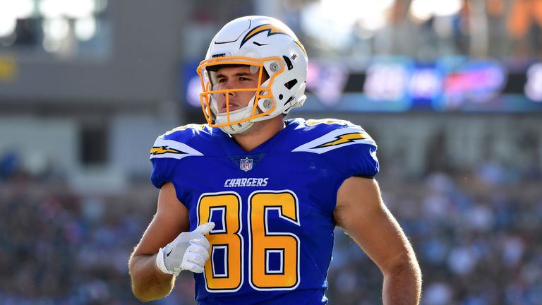 Hunter Henry is set to be on the LA Chargers sidelines for up to six weeks