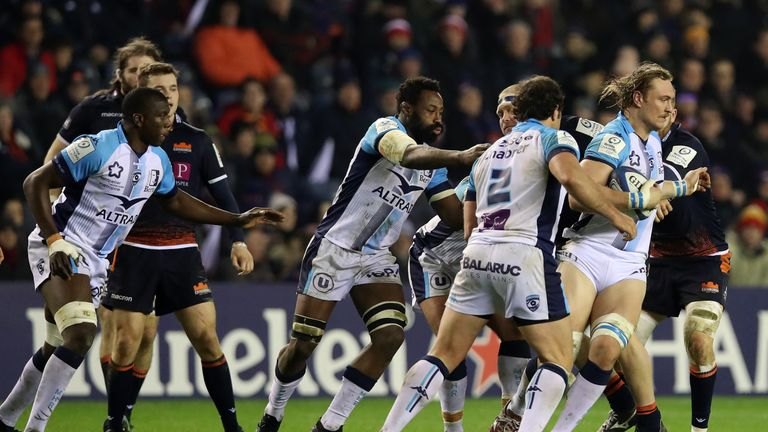 Jacques du Plessis scored Montpellier's first try