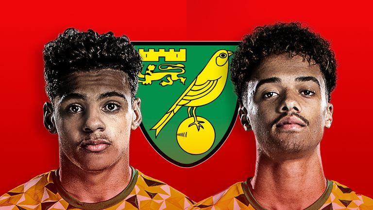 Max Aarons and Jamal Lewis of Norwich City