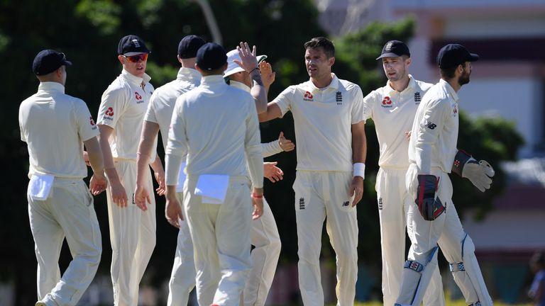 James Anderson, England, tour match vs CWI President's XI in Barbados