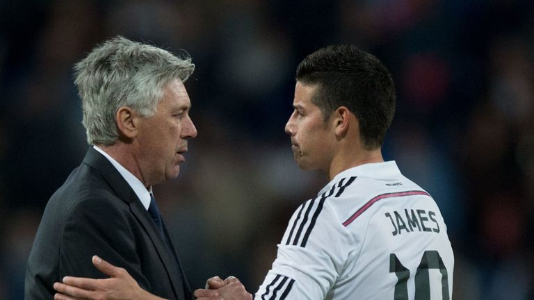 Carlo Ancelotti has twice been sacked soon after bringing James to a club