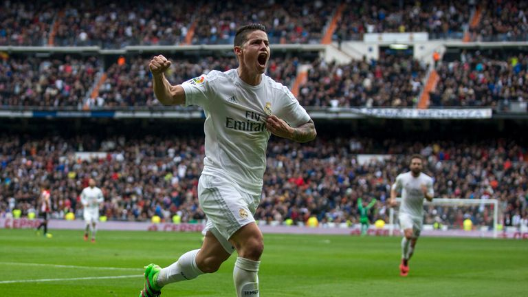James Rodriguez made a promising start to his Real Madrid career