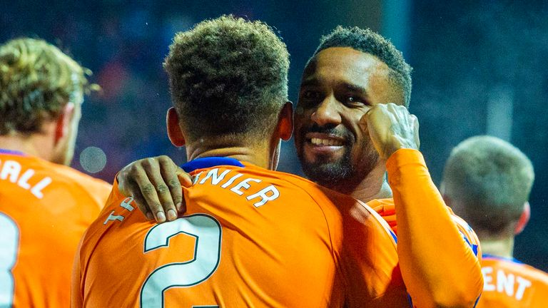 Jermain Defoe scored on his debut for Rangers