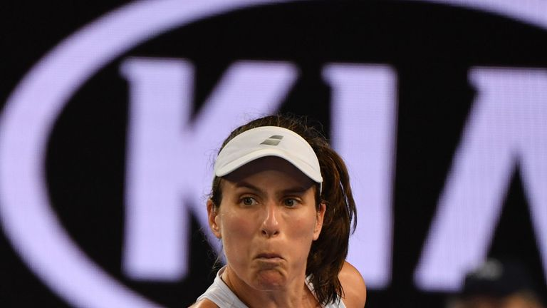 Konta goes down fighting as Muguruza seals victory at 3.12am