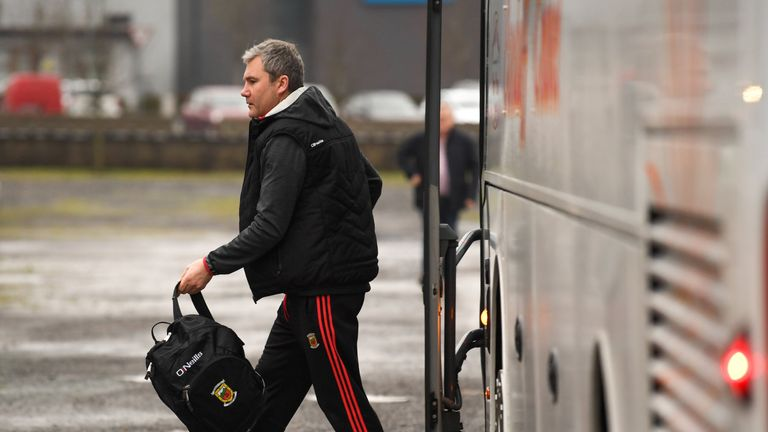 Look who's back: John Horan steps off the bus for the first game of his second coming as Mayo football manager