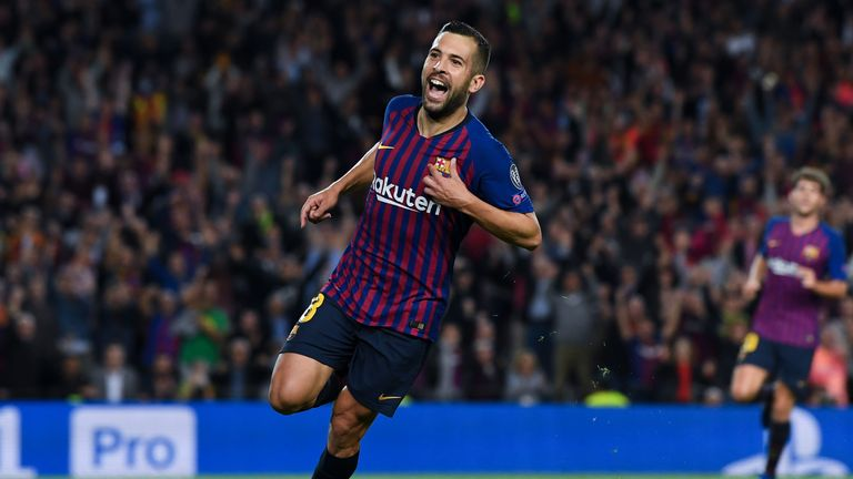 Left-back Jordi Alba was a Juve target before signing his new Barca deal