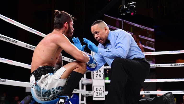 Jorge Linares was put down within 15 seconds of the start
