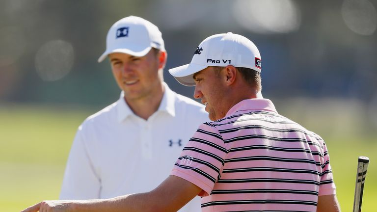 Spieth played a practice round with Justin Thomas on Tuesday