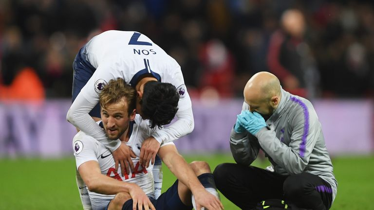 Tottenham Kane suffers ankle ligament damage back in training early March