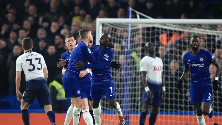 N'Golo Kante put Chelsea into the lead on the night