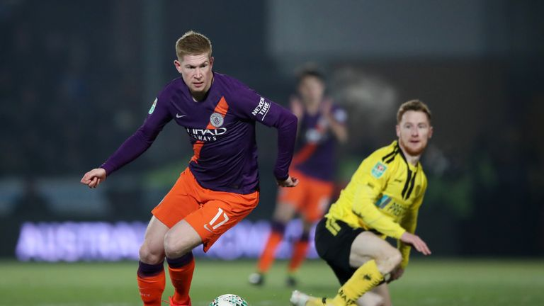 Kevin de Bruyne lasted 62 minutes on his return to the Manchester City first team