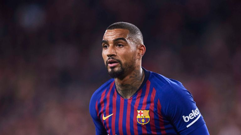 Kevin-Prince Boateng made his debut for Barcelona