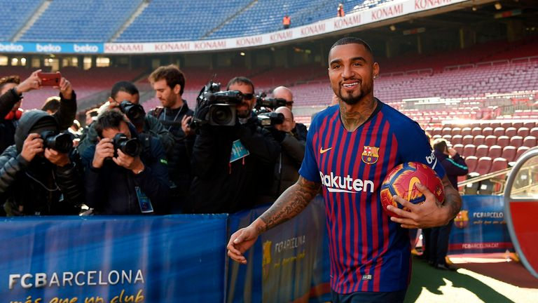 Kevin-Prince Boateng has joined Barcelona on loan from Sassuolo