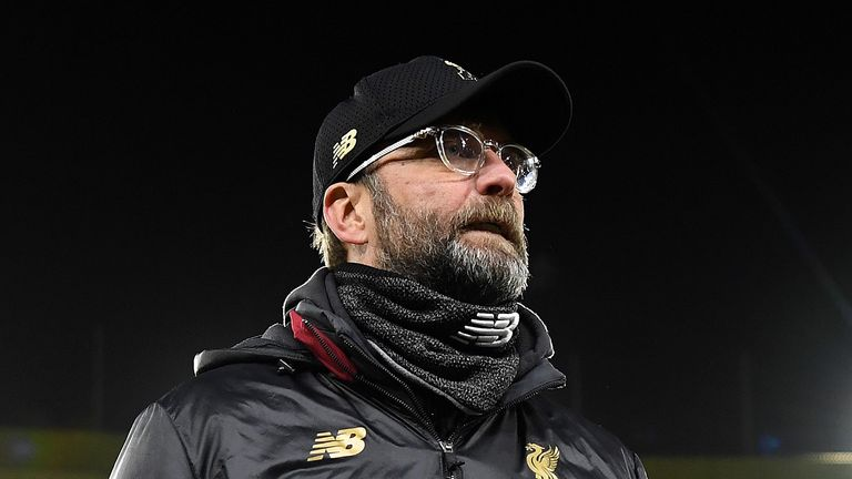 Liverpool Manager Jurgen Klopp leaves the pitch after his side lost the Emirates FA Cup Third Round match between Wolverhampton Wanderers and Liverpool at Molineux on January 7, 2019 in Wolverhampton, United Kingdom.