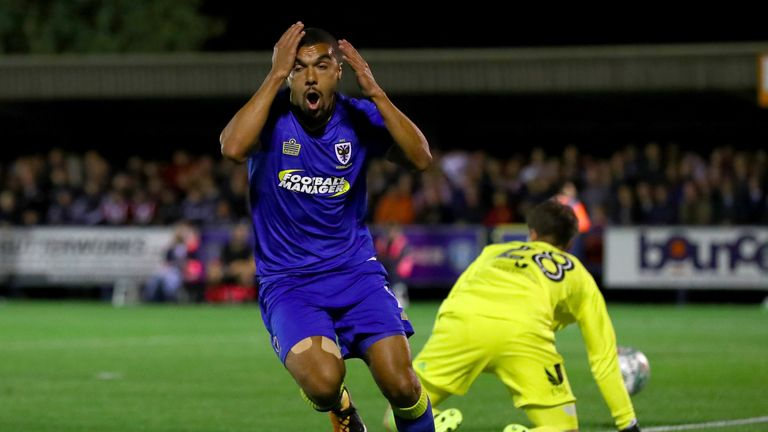 Kwesi Appiah left it late to seal victory for AFC Wimbledon against Fleetwood