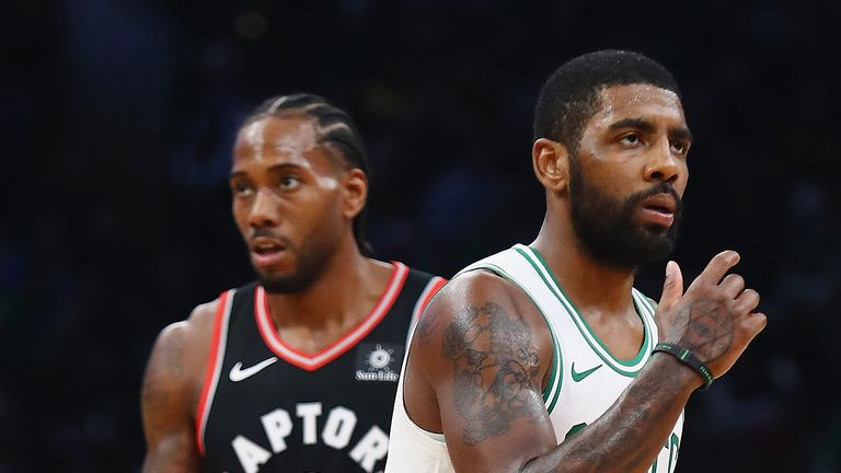 Kawhi Leonard and Kyrie Irving are set to go head-to-head as the Raptors and Celtics meet for the third time this season