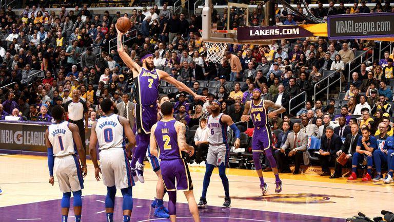 NBA PISTONS AT LAKERS