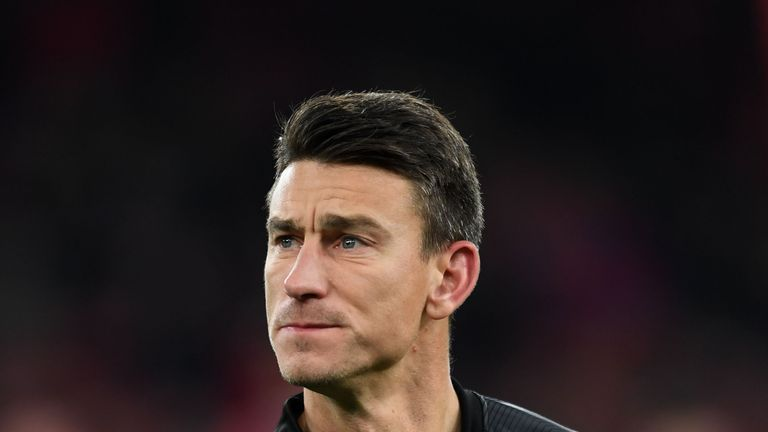 Laurent Koscielny during the UEFA Europa League Group E match between Arsenal and Qarabag FK at Emirates Stadium on December 13, 2018 in London, United Kingdom.