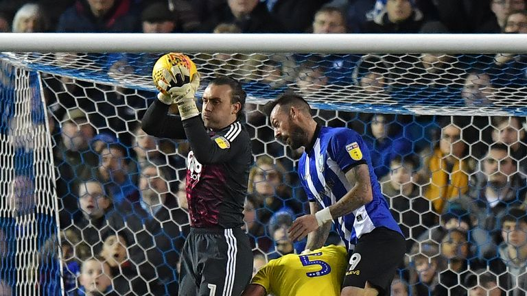 Birmingham City's Lee Camp denies Steven Fletcher