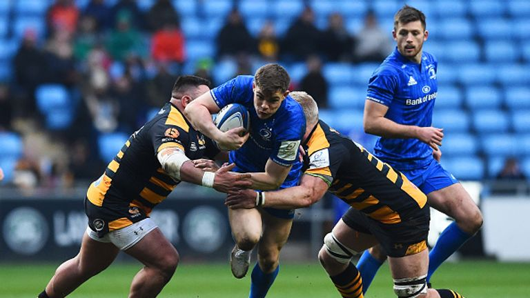 Garry Ringrose scores the opening try for Leinster