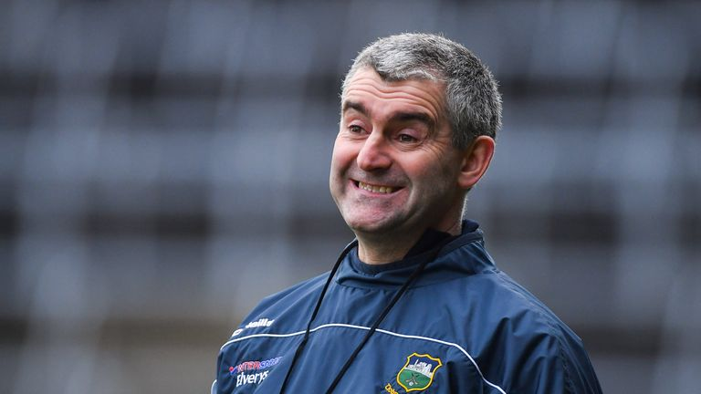 Wry smile: Liam Sheedy reacts during Tipp's loss to Clare