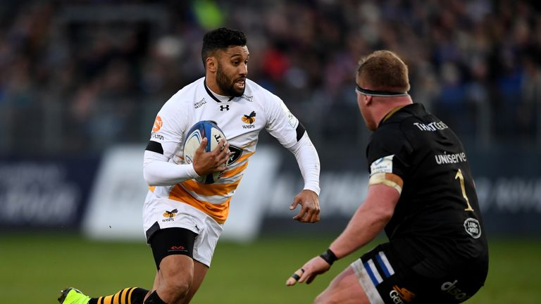 Lima Sopoaga kicked eight points off the tee for Wasps at the Rec but they fell to a last-minute loss