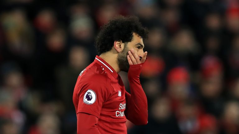 Mohamed Salah was unable to find a breakthrough
