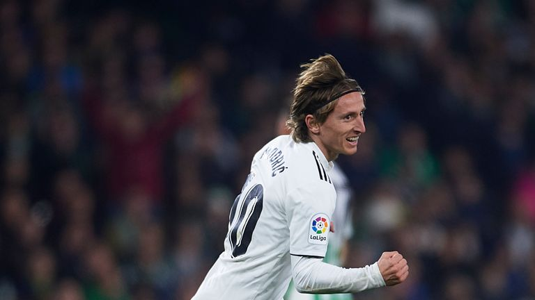 Luka Modric netted early on for Real Madrid