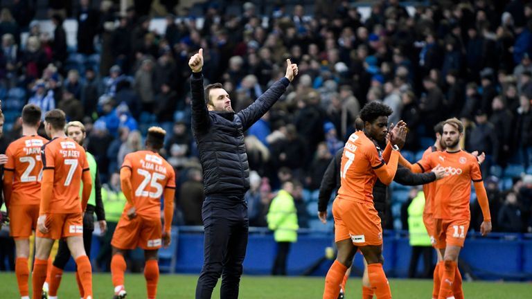Luton celebrated forcing a replay with Sheffield Wednesday