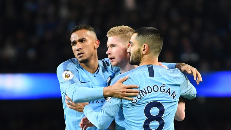 Manchester City will be looking for a fifth Premier League win in a row