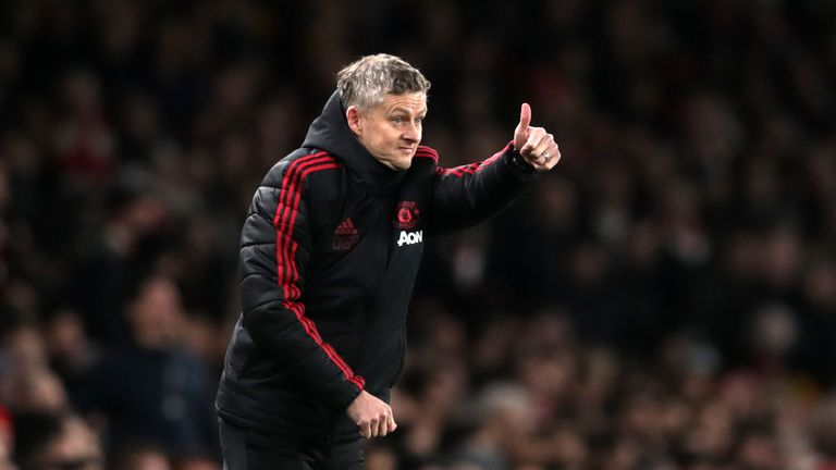 Manchester United manager Ole Gunnar Solskjaer during the FA Cup match against Arsenal