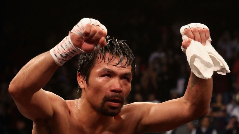 Pacquiao won his 24th world title and 70th professional fight
