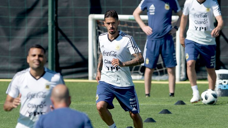 Lanzini was injured in training with his national team before the World Cup in the summer