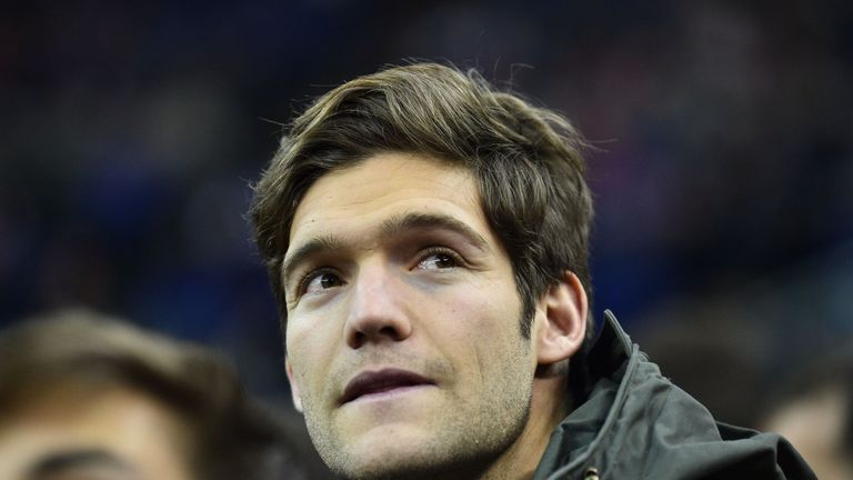 Marcos Alonso attended the NBA game at The O2