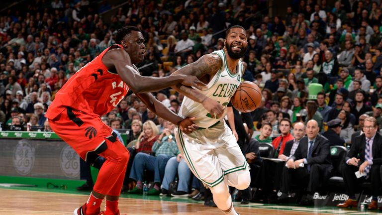 Pascal Siakam and Marcus Morris are sure to engage in a high-energy battle at power forward