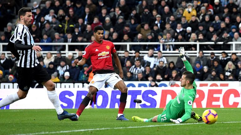Defeat to Manchester United left Newcastle just two points above the bottom three