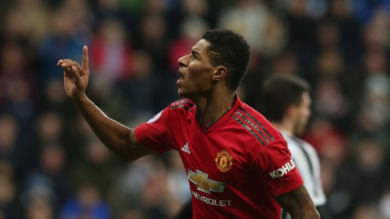 Manchester United striker Marcus Rashford netted the opener against Newcastle last time out