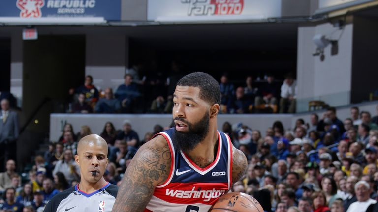 Markieff Morris in action for the Washington Wizards NBA side