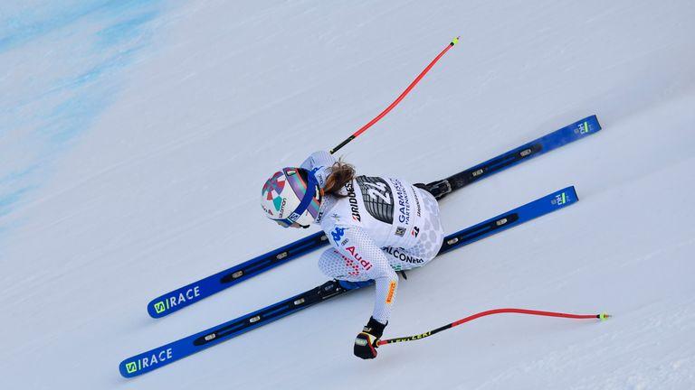Marta Bassino of Italy in Garmisch Partenkirchen, Germany