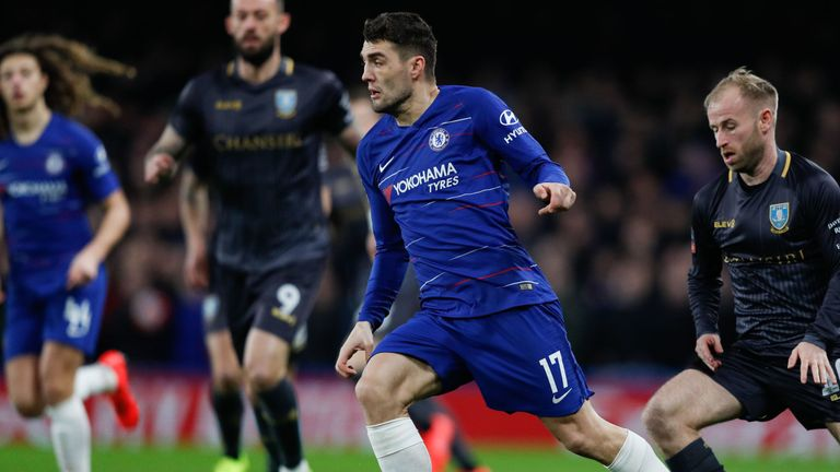 Chelsea midfielder Mateo Kovacic in action against Sheffield Wednesday