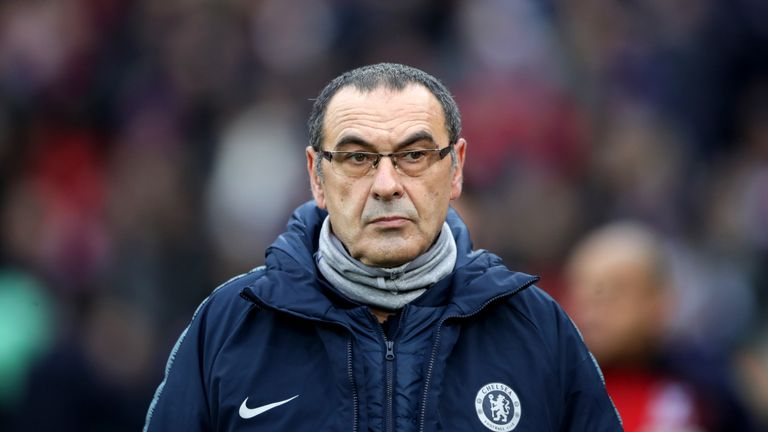 Maurizio Sarri was enraged by the performance of his Chelsea side