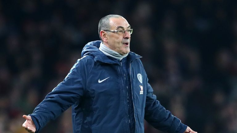 Maurizio Sarri tore into his Chelsea players after full-time