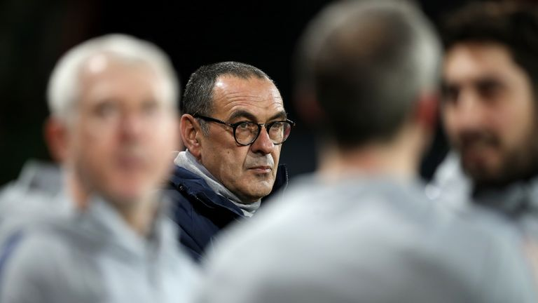 Chelsea manager Maurizio Sarri is under pressure after the 4-0 defeat by Bournemouth